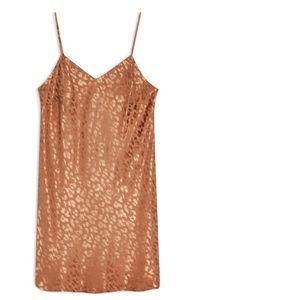 Jacquard Mini Slip Dress